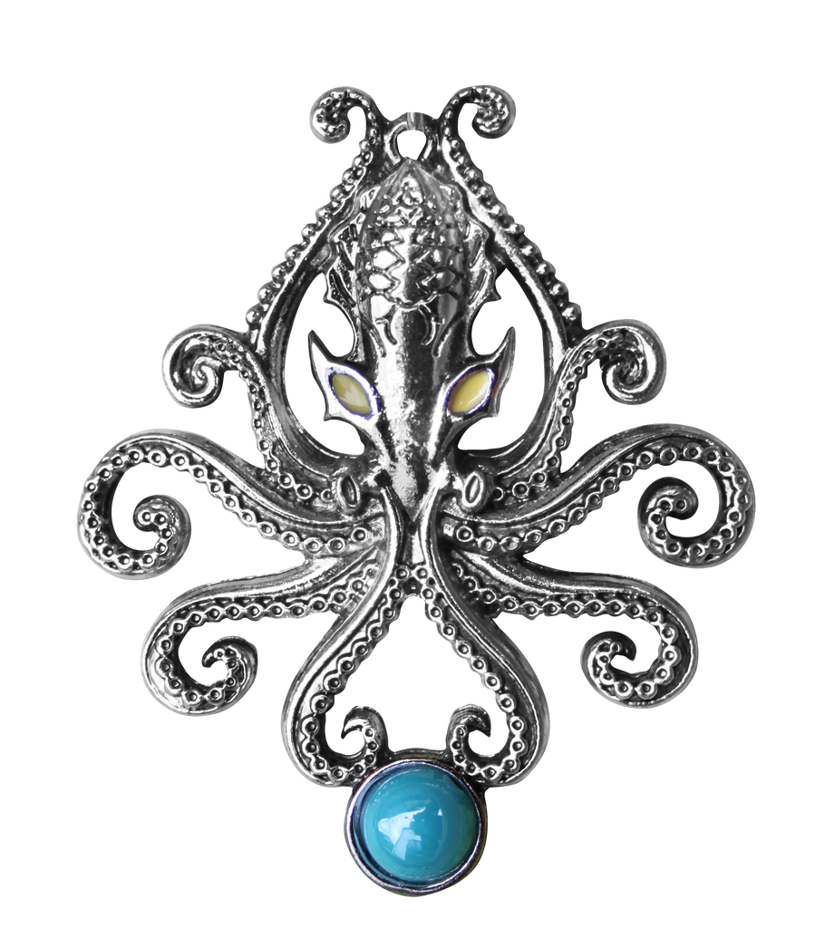 BB09 - The Kraken Pendant for Wild Adventures (Briar Bestiary) at Enchanted Jewelry & Gifts