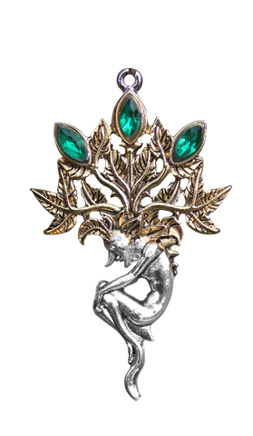 BB10 - Mandrake Pendant for Luck and Wealth (Briar Bestiary) at Enchanted Jewelry & Gifts