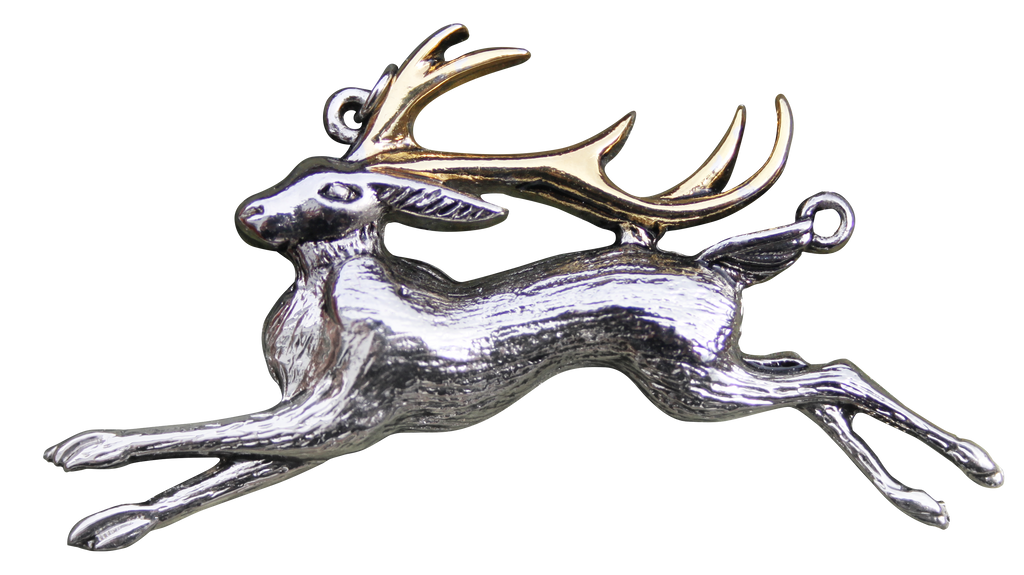 BB11-The Jackalope for Warrior's Strength Pendant by Briar (Briar Bestiary) at Enchanted Jewelry & Gifts