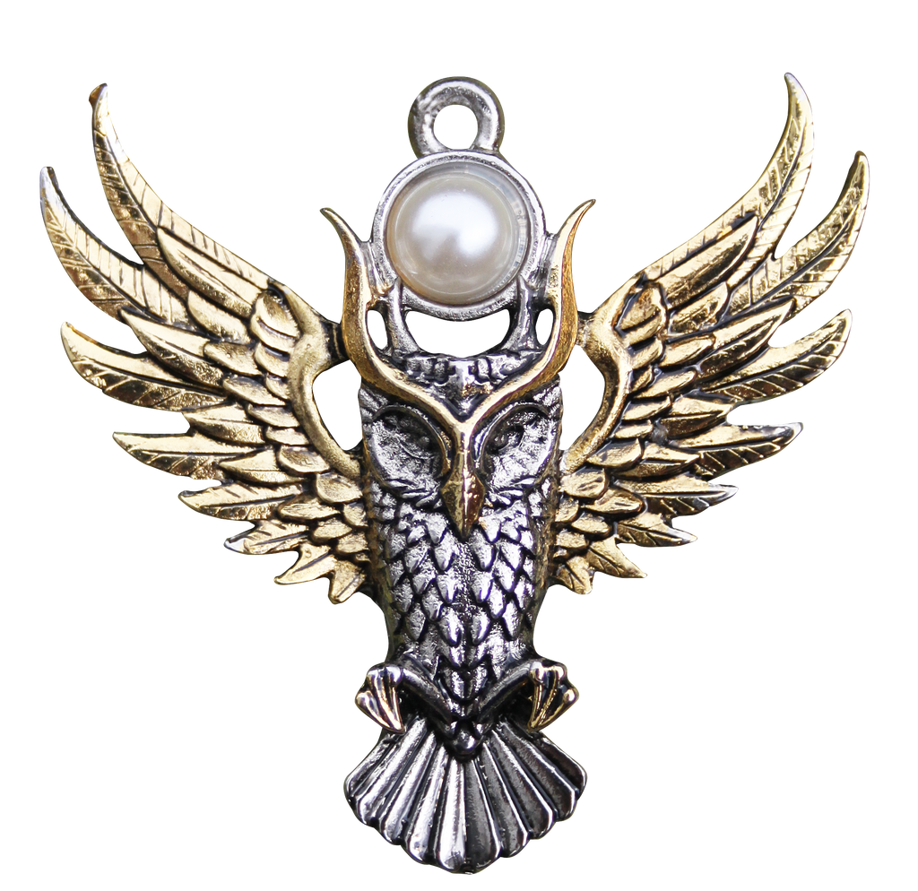 BB12-Owl of Athena For Magickal Wisdom Pendant by Briar (Briar Bestiary) at Enchanted Jewelry & Gifts