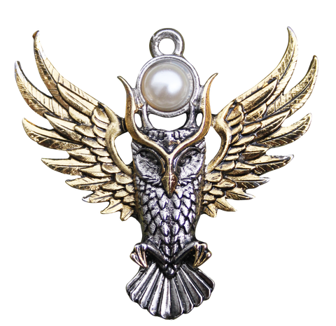 BB12 - Owl of Athena Pendant for Magickal Wisdom (Briar Bestiary) at Enchanted Jewelry & Gifts