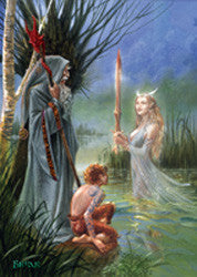 rBM20-Lady of the Lake-Briar Fantasy Cards-Enchanted Jewelry & Gifts
