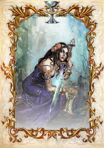 rBM56-Galahad's Prayer by Briar (Briar Mediaeval Cards) at Enchanted Jewelry & Gifts