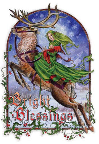 (Product Code: rBY11) Briar Bright Blessings Midwinter Card, Briar Yule Cards - EnchantedJewelry