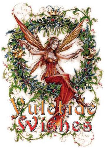 rBY13-Briar Mistletoe Fairy Midwinter Card (Briar Yule Cards) at Enchanted Jewelry & Gifts