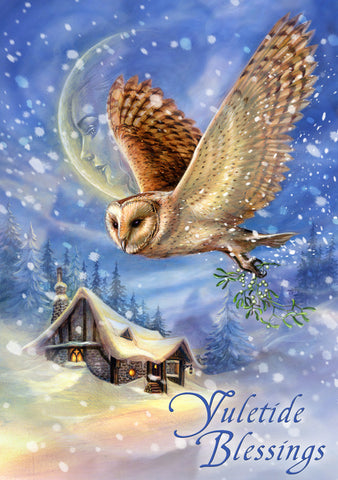 (Product Code: rBY22) Snow Bringer Yule Card, Briar Yule Cards - EnchantedJewelry