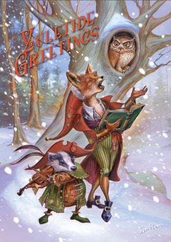 (Product Code: rBY25) Wildwood Carols Yuletide Greetings Card, Briar Yule Cards - EnchantedJewelry