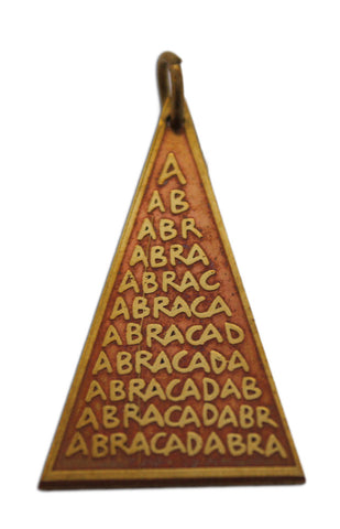 (Product Code: SCC90) Abraca Triangle Charm for Unexpected Good Fortune, Star Charms - EnchantedJewelry