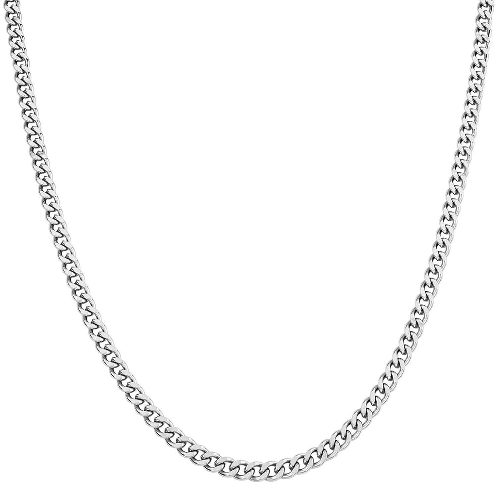 "CHLINK4-22"" Stainless Steel Curb Link Chain (Chains) at Enchanted Jewelry & Gifts"