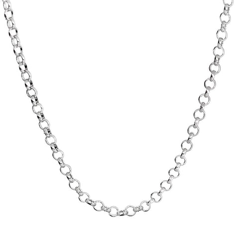 "CHLNK1 - 20"" Sterling Silver Rolo Link Chain (Chains) at Enchanted Jewelry & Gifts"