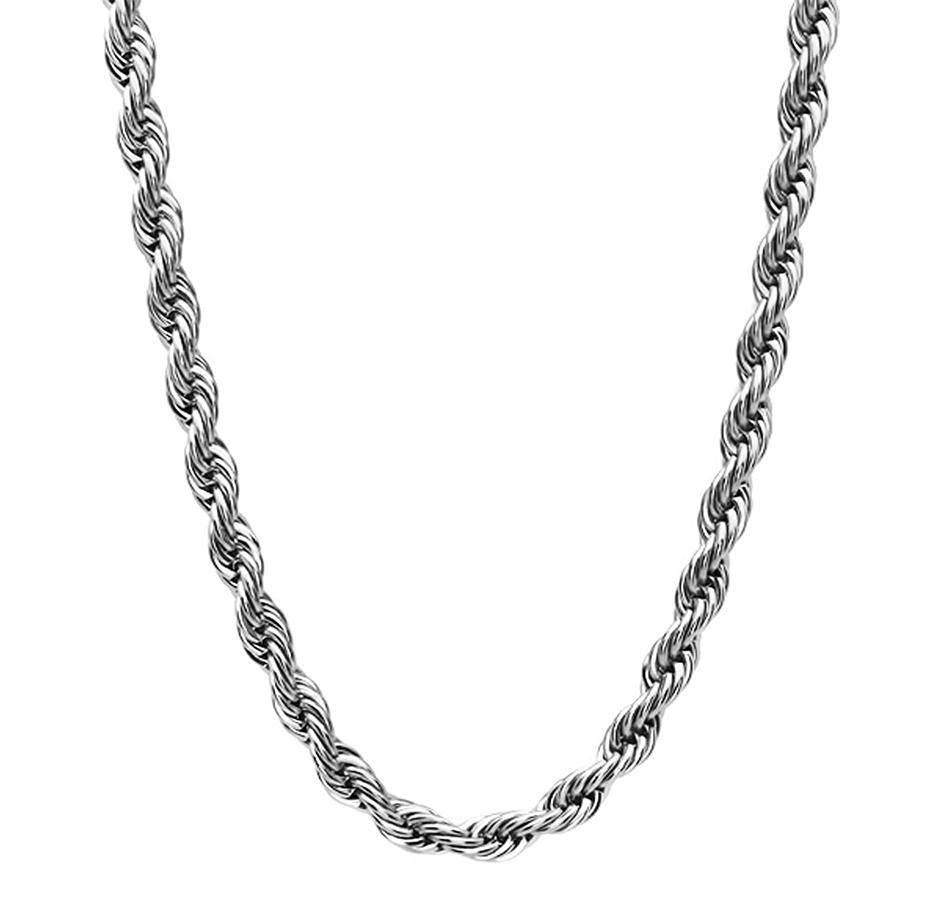 "CHROPE25 - 20"" Stainless Steel Rope Chain (Chains) at Enchanted Jewelry & Gifts"