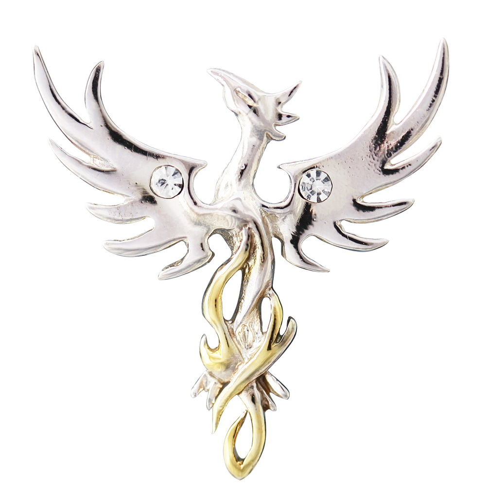 COM04 - Sun Phoenix for Optimism by Anne Stokes (Mythical Companions) at Enchanted Jewelry & Gifts