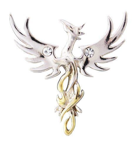 COM04-Sun Phoenix for Optimism by Anne Stokes-Mythical Companions-Enchanted Jewelry & Gifts