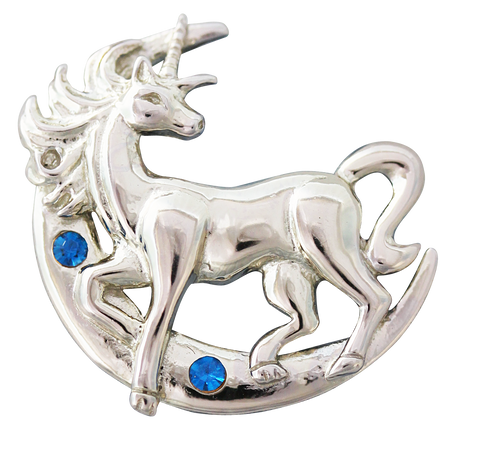 COM05 - Lunar Unicorn for Making Good Decisions by Anne Stokes (Mythical Companions) at Enchanted Jewelry & Gifts