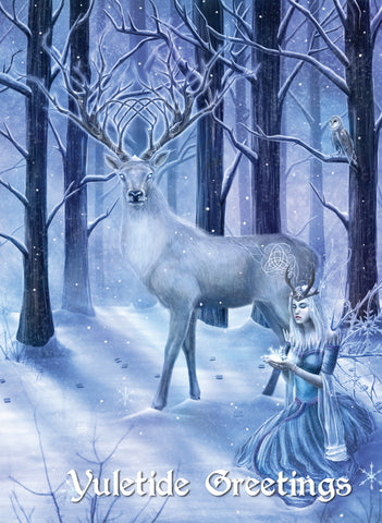 rCB01-Frozen Fantasy Yule Card-Other Greeting Cards-Enchanted Jewelry & Gifts