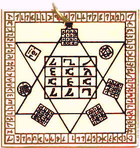 SCD70-Doctor Dee's Table for Universal Protection (Key of Solomon Talismans) at Enchanted Jewelry & Gifts
