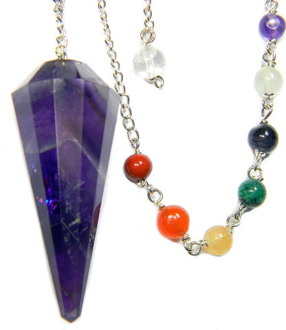 DPCA - Amethyst Chakra Pendulum for Channeling and Intuition (Pendulums) at Enchanted Jewelry & Gifts
