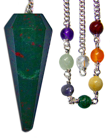DPCBS - Blood Stone Chakra Pendulum (Pendulums) at Enchanted Jewelry & Gifts