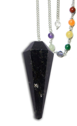 DPCBT - Black Tourmaline Protection Chakra Pendulum (Pendulums) at Enchanted Jewelry & Gifts