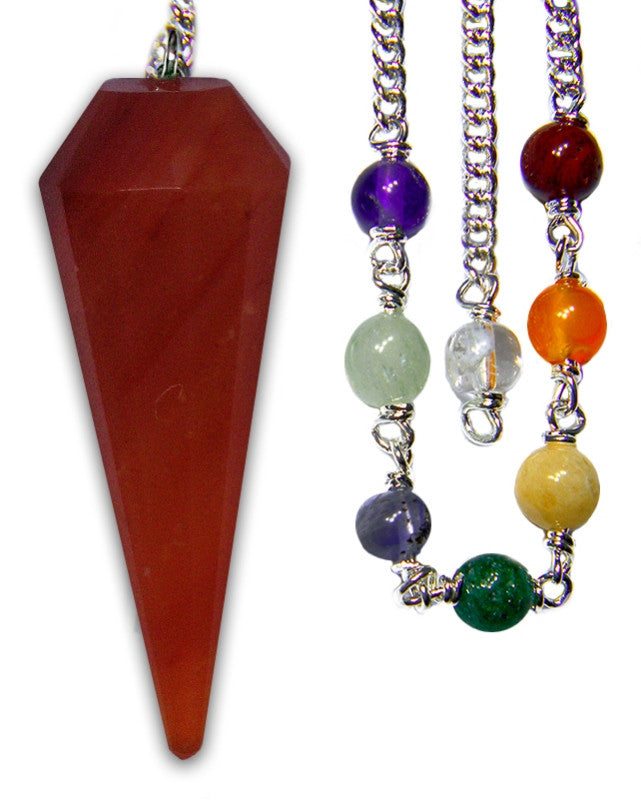 DPCCA - Carnelian Chakra Pendulum (Pendulums) at Enchanted Jewelry & Gifts