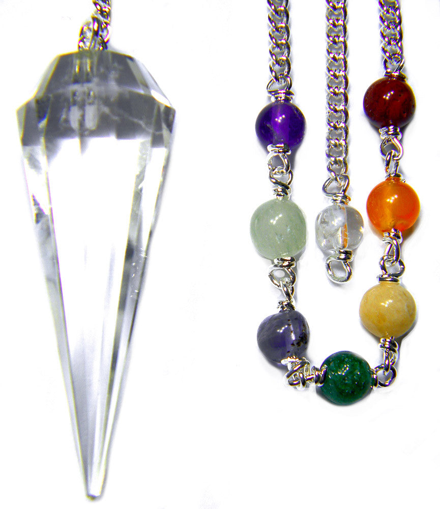 DPCCQ-Crystal Quartz Chakra Pendulum for Pure Energy work (Pendulums) at Enchanted Jewelry & Gifts