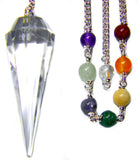 DPCCQ-Crystal Quartz Chakra Pendulum for Pure Energy work-Pendulums-Enchanted Jewelry & Gifts