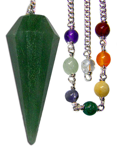 DPCGA-Green Aventurine Chakra Pendulum (Pendulums) at Enchanted Jewelry & Gifts
