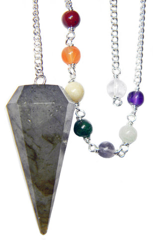 DPCLAB - Labradorite Chakra Pendulum (Pendulums) at Enchanted Jewelry & Gifts