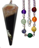 DPCZEBRA - Zebra Sardonyx Chakra Pendulum (Pendulums) at Enchanted Jewelry & Gifts