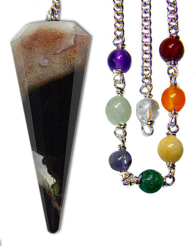 DPCZEBRA-Zebra Sardonyx Chakra Pendulum (Pendulums) at Enchanted Jewelry & Gifts