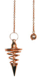 DPSPC - Copper Metal Spiral Pendulum (Pendulums) at Enchanted Jewelry & Gifts