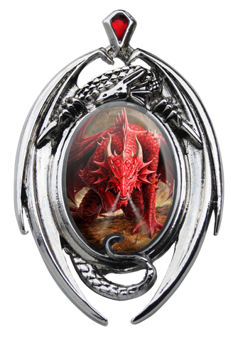 (Product Code: EC11) Dragons Lair Cameo by Anne Stokes, Enchanted Cameos - EnchantedJewelry