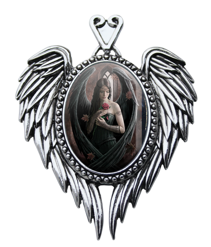 (Product Code: EC13) Angel Rose Cameo by Anne Stokes, Enchanted Cameos - EnchantedJewelry