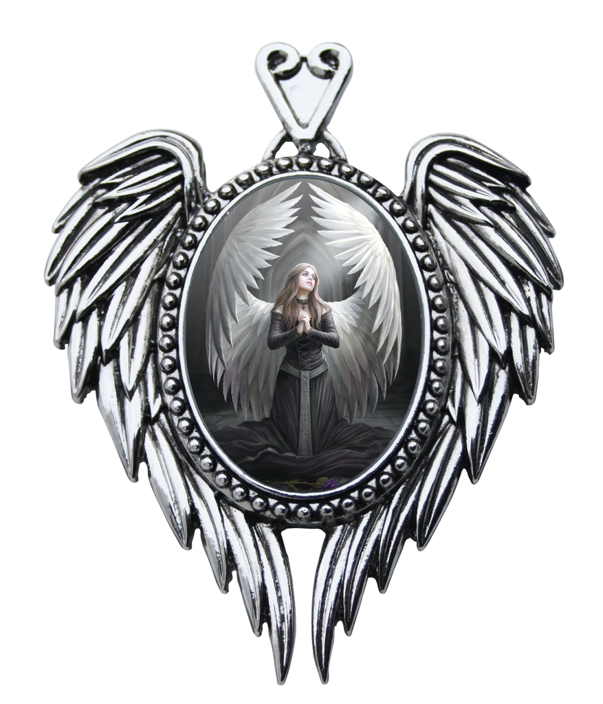 EC14-Prayer For The Fallen Cameo by Anne Stokes (Enchanted Cameos) at Enchanted Jewelry & Gifts
