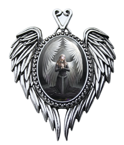 (Product Code: EC14) Prayer For The Fallen Cameo by Anne Stokes, Enchanted Cameos - EnchantedJewelry
