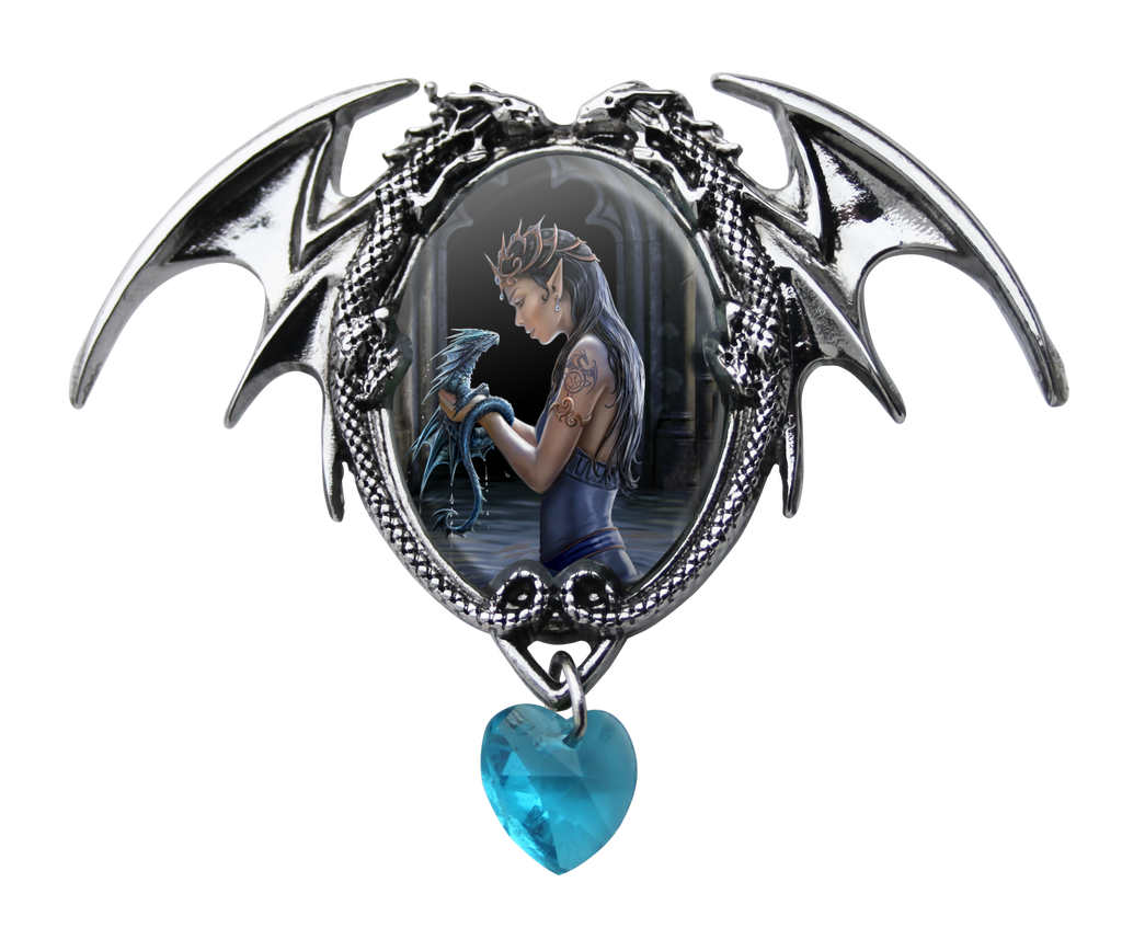 EC1-Water Dragon Cameo by Anne Stokes (Enchanted Cameos) at Enchanted Jewelry & Gifts