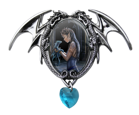 (Product Code: EC1) Water Dragon Cameo by Anne Stokes, Enchanted Cameos - EnchantedJewelry