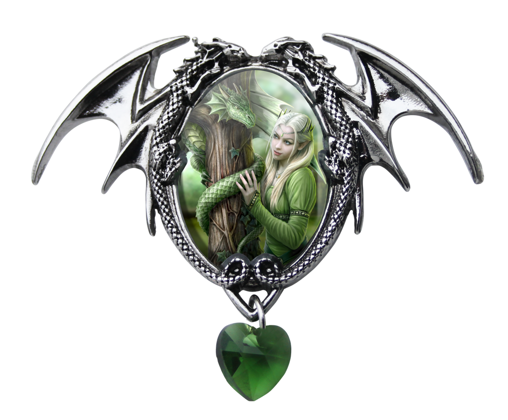 EC2-Kindred Spirits Cameo by Anne Stokes (Enchanted Cameos) at Enchanted Jewelry & Gifts