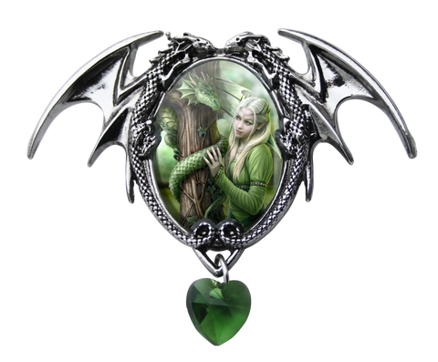 (Product Code: EC2) Kindred Spirits Cameo by Anne Stokes, Enchanted Cameos - EnchantedJewelry