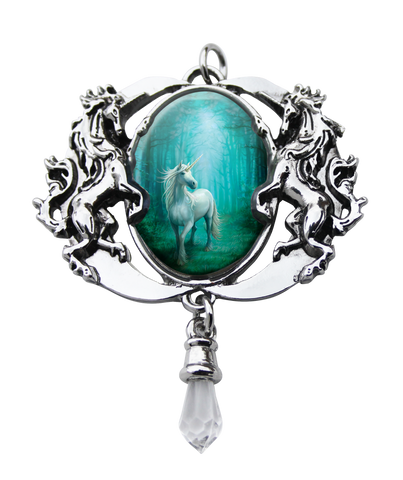 (Product Code: EC4) Forest Unicorn Cameo by Anne Stokes, Enchanted Cameos - EnchantedJewelry
