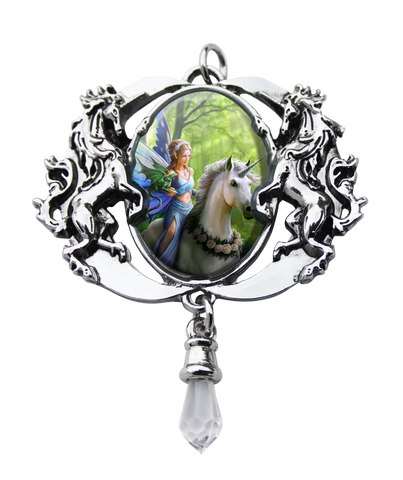 (Product Code: EC6) Realm Of Enchantment Cameo by Anne Stokes, Enchanted Cameos - EnchantedJewelry