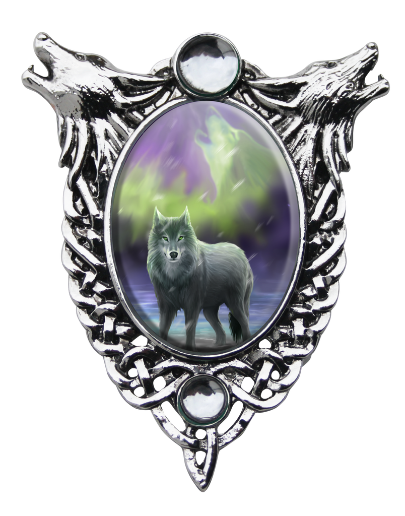 EC8-Aura Wolf Cameo by Anne Stokes (Enchanted Cameos) at Enchanted Jewelry & Gifts