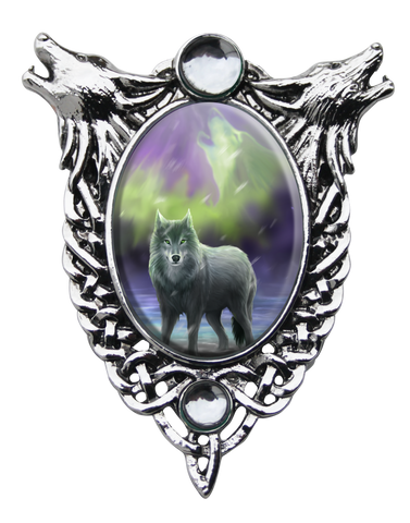 (Product Code: EC8) Aura Wolf Cameo by Anne Stokes, Enchanted Cameos - EnchantedJewelry