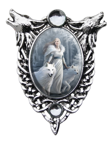 (Product Code: EC9) Winter Guardians Cameo by Anne Stokes, Enchanted Cameos - EnchantedJewelry