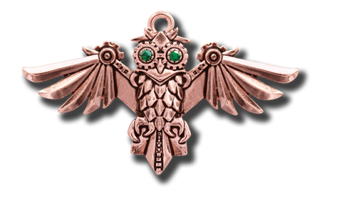 (Product Code: EN10) Aviamore Owl Pendant For Freedom Of Mind, Engineerium - EnchantedJewelry