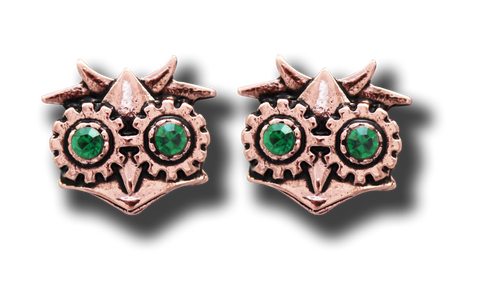 (Product Code: EN11) Aviamore Owl Earrings For Freedom Of Mind, Engineerium - EnchantedJewelry