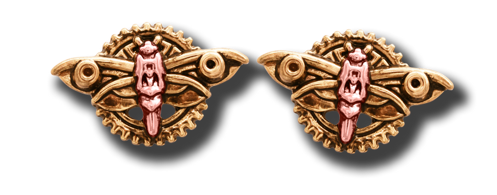 (Product Code: EN5) Magradore's Moth Earrings For Personal Transformation, Engineerium - EnchantedJewelry