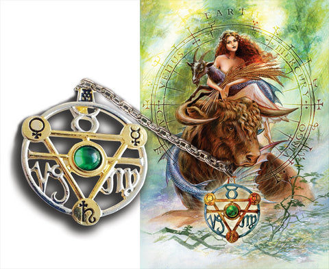 ET1 - Elemental Earth Talisman and Card by Briar (Elemental Talismans) at Enchanted Jewelry & Gifts