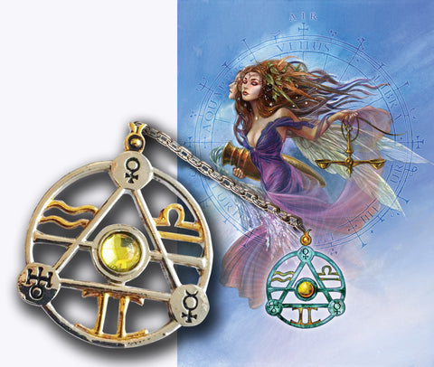 (Product Code: ET2) Elemental Air Talisman and Card, Briar Elemental Talismans - EnchantedJewelry - 1