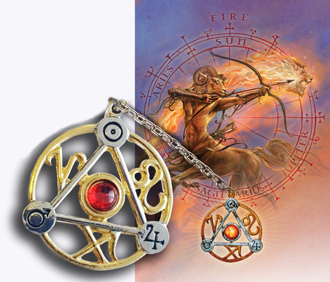 (Product Code: ET3) Elemental Fire Talisman and Card, Briar Elemental Talismans - EnchantedJewelry - 1